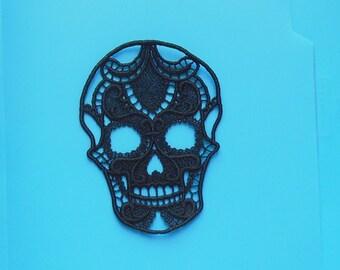 Lace Applique - Pretty Lace Skull