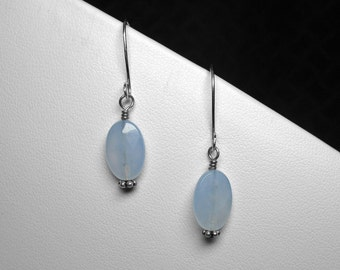 Chalcedony Earrings in Silver
