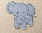 Elephant - MADE to ORDER - Choose SIZE and Color - Tutu & Shirt Supplies - fabric Iron on Applique Patch 7031