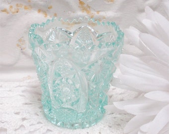 SOLD LAYAWAY! Aqua Imperial Toothpick Holder Excellent
