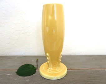 Yellow Bud Vase Fiesta HLC made in USA Fiestaware