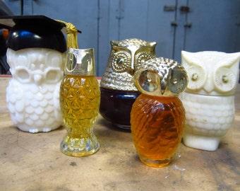 1970s Owl Avon Bottles
