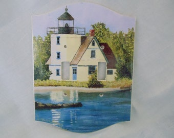 Mendota, Michigan Lighthouse Art Print on Double Switch Plate