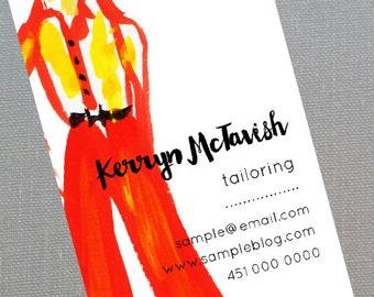Fashion Stylist,Tailor,Fashion designer,Vintage Clothing,Unique Business Card, Set of 50