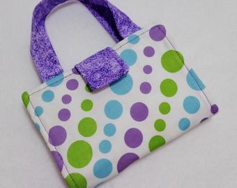 Polka Dot print Crayon Wallet. Free Shipping/ Ready to Ship
