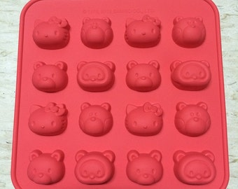 Hello Kitty & Friends - Flexible Mold Silicone Mold Soap Ice Chocolate Mold Muffin Mold Cake Mold
