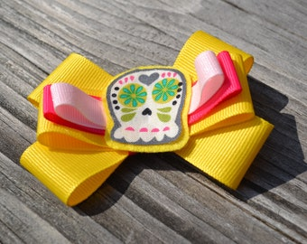 Girls, Yellow, Bonehead, and Pink, Bow, Hair Clip