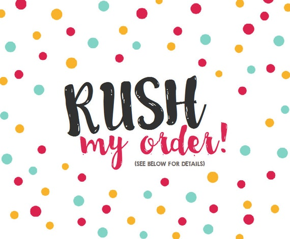 Rush your order - Priority Mail Upgrade