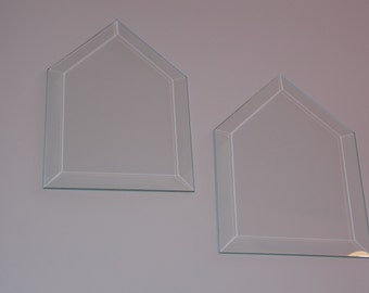 2 Beveled Glass House Panels