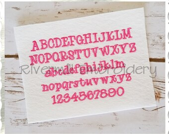 "Small Mini Maddie Machine Embroidery Font Monogram Alphabet - 1/2"" & 3/4"" Sizes"