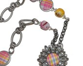 "Pastel Flower  32""  Necklace OOAK Industrial Chic Gifts for Her Under 50, Original Design"