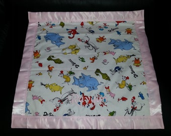 Dr. Seuss Cotton/Fleece Blanket 22x22