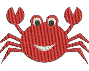 Crab machine embroidery design.  Comes in multiple sizes.  INSTANT DOWNLOAD