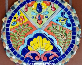 Mosaic stepping stone Mosaic wall plaque Mosaic wall decor-mx