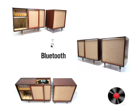 Vintage Mid Century Modern Magnavox Record Player By