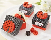 Ladybug Favor Boxes Summer Party Boxes Birthday Gift Boxes Party Favor Boxes Birthday Favor Boxes Fourth of July Boxes 4th of July Favors