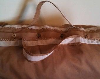 Historical Linen Travel Bag custom made