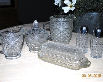 Anchor Hocking Collection of Wexford Serving Pieces