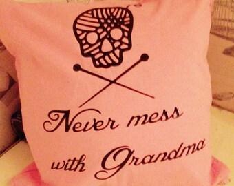Humerous Grandma cushion cover