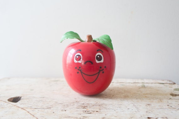 ... Price Happy Apple Roly Poly Chime Baby Toy Vintage Apple Toy Chime Toy