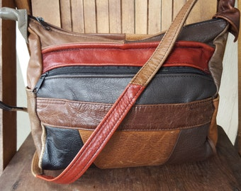 MANY   ///   Leather Patchwork Bag