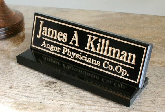 Office Name Plates: Personalized Desk Name Plate Office Desk Sign By