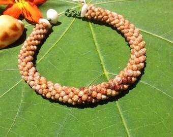 Kahelelani Shell Bracelet Seashell Bracelet Kauai shells Rare Kauai Made- Hawaiian Style-Eco Freindly Gathered Shell Jewelry