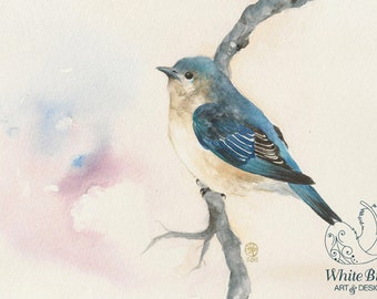 GICLÉE PRINT: Little Blue Bird