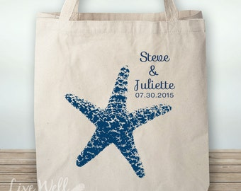Starfish - Starfish Tote - Beach Wedding - Starfish Wedding - Personalized Wedding Gift - Custom Wedding Gift - Wedding Favor - Custom Gift