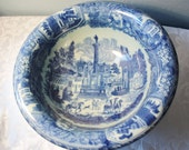 Vintage Blue On White China Victoria Ware Ironstone 19th Century Style Bowl