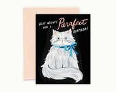 Purrfect Persian Birthday Greeting Card