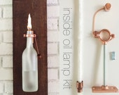 4 HARDWARE ONLY - Wine (beer) Bottle Oil Lamps - Gift for Men - copper - Use Your Own Bottles - Hostess Gifts -