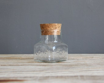 Small Glass Cork Jar