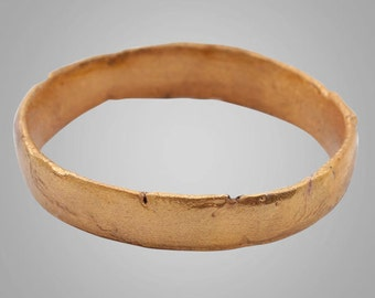 Authentic Ancient Viking  wedding Ring Band , Vintage wedding Ring, Jewelry C.866-1067A.D. Size 13  (22.2mm)(BRR744)