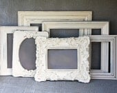 Wedding Frame White Set Of Six Shabby Chic Vintage White Hand Painted & Distressed