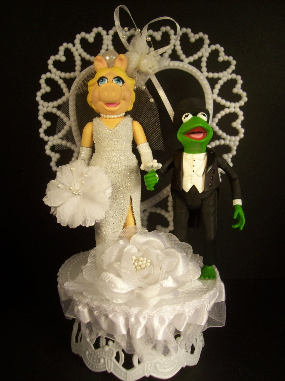 Kermit The Frog In Black Tux Amp Miss Piggy Wedding Cake Topper