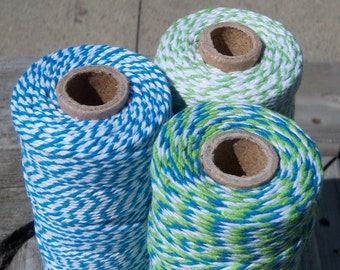 Thick Bakers Twine - Three Colors - 100% Cotton - Lakeshore - Your Choice of Length