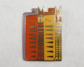 Laurel Burch EGYPTICAT Brooch Pin - Retired Design and Discontinued Jewelry Line - Vintage