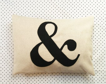 Ampersand Pillow Cover, ampersand pillow, wedding pillow, ampersand decor, ampersand wedding decor, ampersand wedding pillow, & decoration