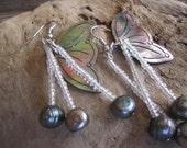 tropical pearl jewelry, hawaiian earrings, tribal jewelry, tropical jewelry, shell jewelry, beach jewelry