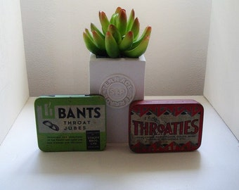 Vintage Tins Throaties & Bants Throat Jubes Rustic Tins