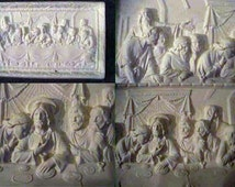 Awesome, 3d, Last Supper Plaque, Easter, Christian, Jesus and Disciples, Religious, Wall decoration, Ready to paint, Ceramic bisque, U-paint