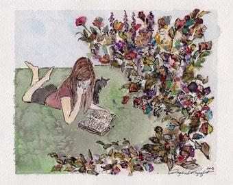 Floral Garden Girl - Original