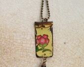 """Tin Jewelry Necklace """"Solitary"""" Tin  for the Tenth Year Ten Year Wedding Anniversary"""