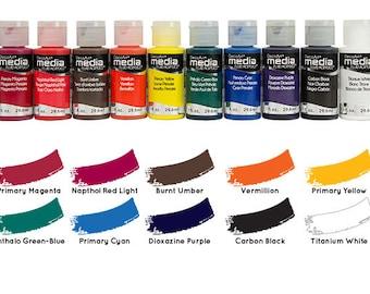 Deco Art Media Fluid Acrylic Paint 1oz - You Choose Color