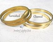 Brass channel bracelet blank vintage stock