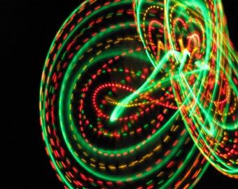 One Love LED Hoop (Rasta colored led hoop)