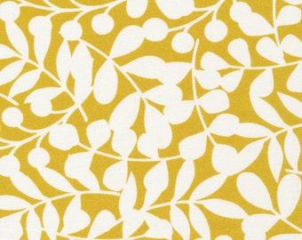 Cloud9 Organic Fabrics - First Light - Branch Citron Canvas 1/2 YD