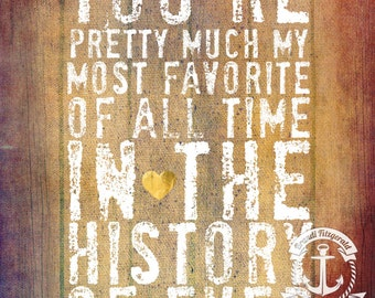 My Favorite Quote History of Ever Love Marriage Inspiration Decor Product Options and Pricing via Dropdown Menu