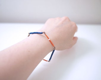 Dainty Minimalist Tribal Japanese Seed Beads Bar Bracelet